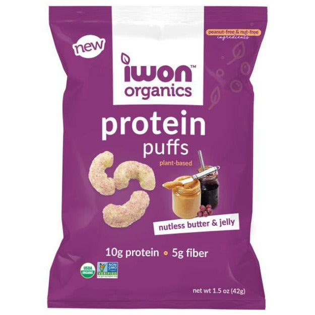 IWON Organics Vegan Protein Puffs (1 bag) - Top Nutrition and Fitness Canada
