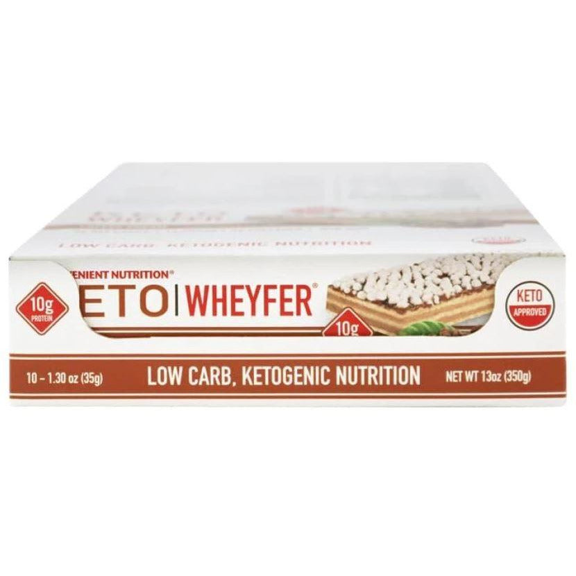 Convenient Nutrition KETO Wheyfer Protein Bar (Box of 10) - Top Nutrition and Fitness Canada