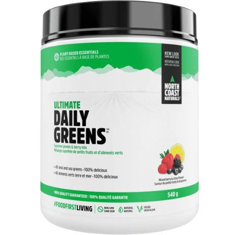 North Coast Naturals Ultimate Daily Greens (540g) - Top Nutrition and Fitness Canada