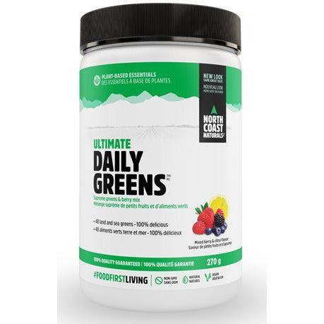 North Coast Naturals Ultimate Daily Greens (270g) - Top Nutrition and Fitness Canada