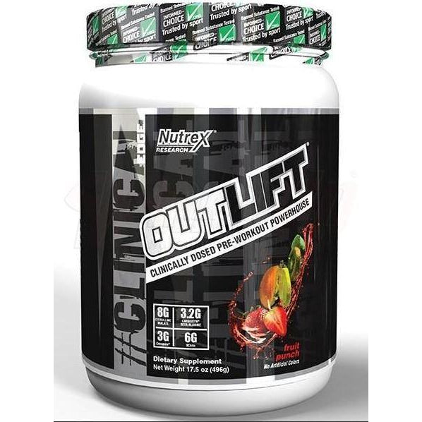 Nutrex Outlift Clinically Dosed Pre-Workout (20 servings) - Top Nutrition and Fitness Canada