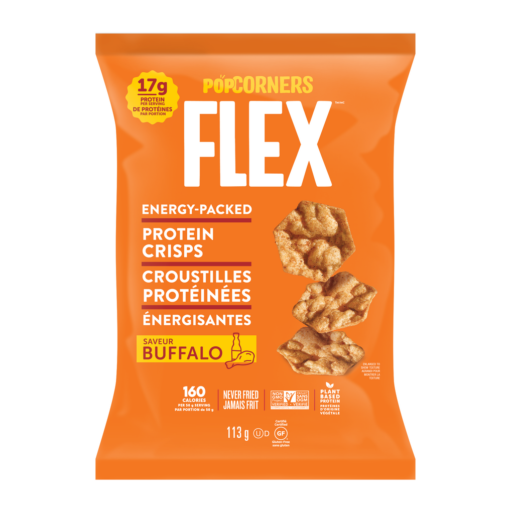 Pop Corners Flex Plant-Based Protein Crisps (1 bag 4 oz) - Top Nutrition and Fitness Canada