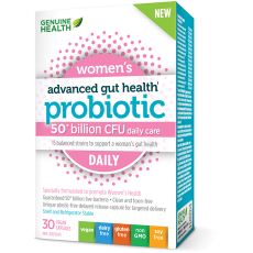 Genuine Health Probiotic 50 billion Women (30 capsules) - Top Nutrition and Fitness Canada