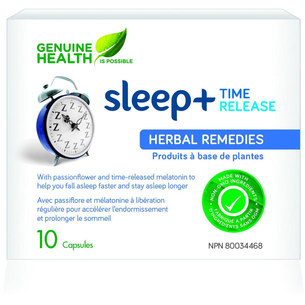Genuine Health Sleep+ Time Release (10 capsules) - Top Nutrition and Fitness Canada