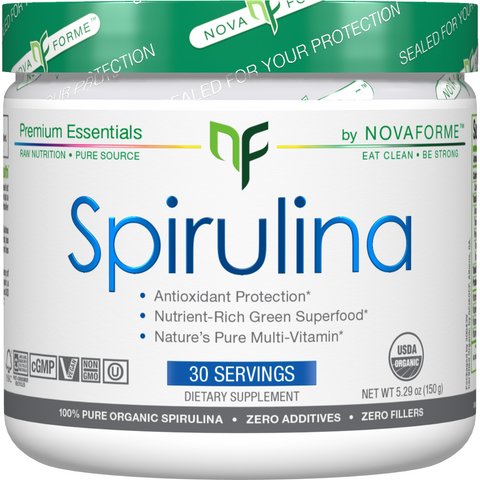 NovaForme Spirulina (30 servings) - Top Nutrition and Fitness Canada