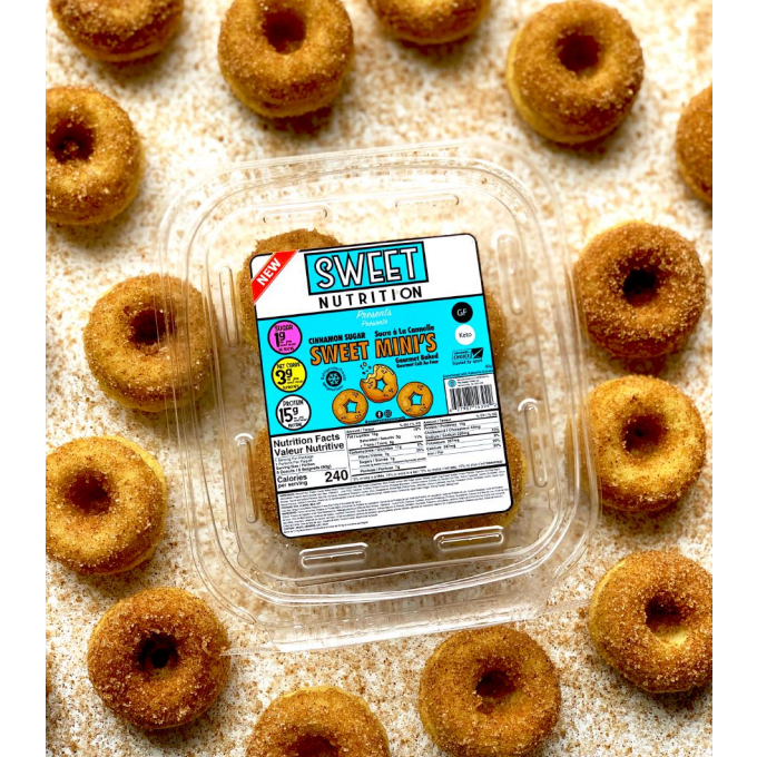 Sweet Nutrition Cinnamon Sugar Mini Protein Donuts (1 pack of 8)