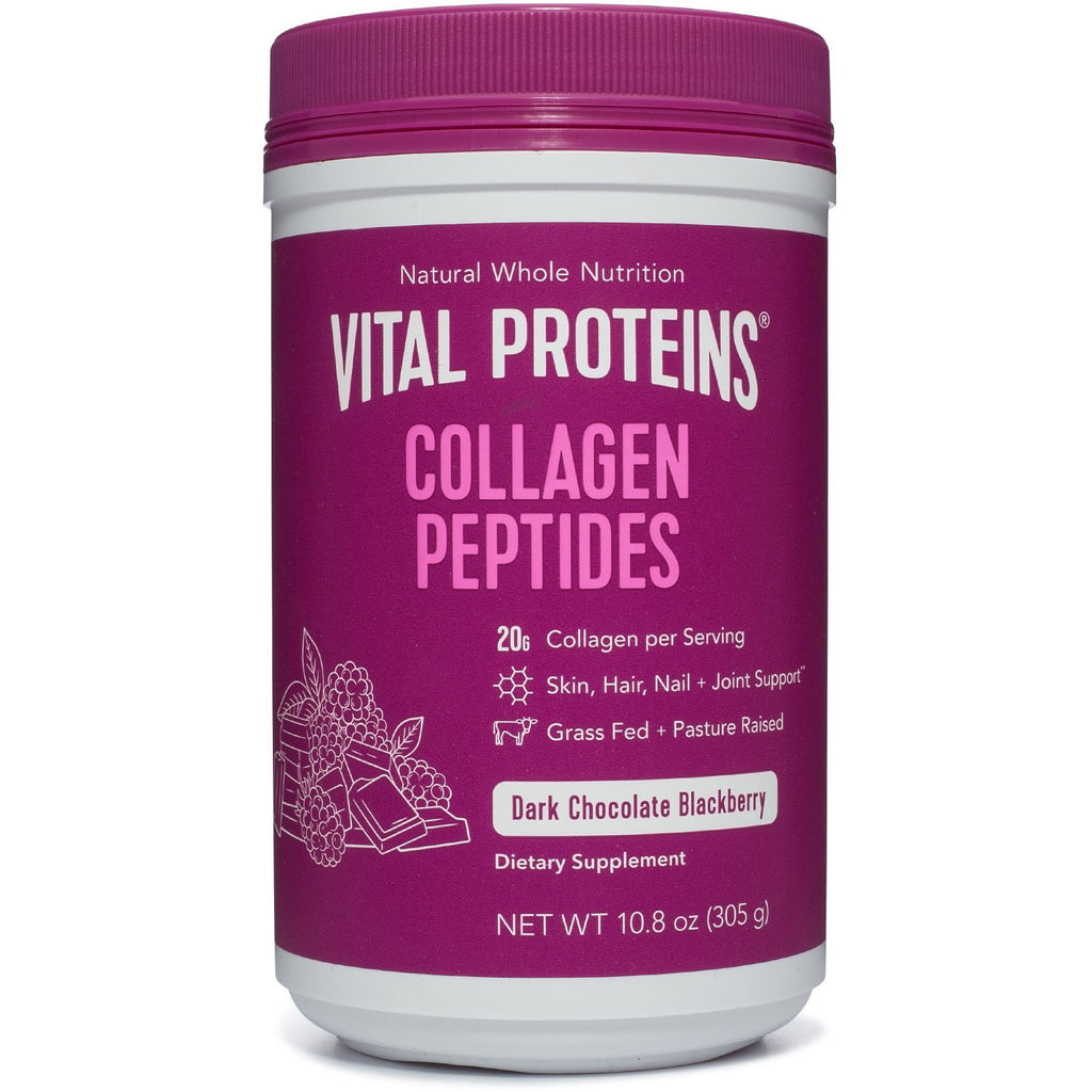 Vital Proteins Dark Chocolate Blackberry Collagen Peptides (10.8 oz) - Top Nutrition and Fitness Canada