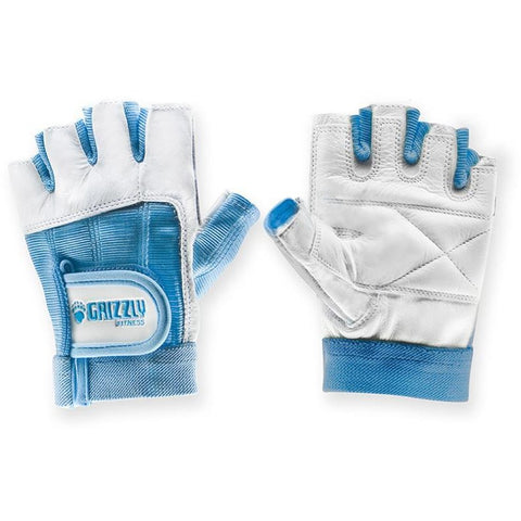 Grizzly Women's Lifting Gloves (Blue) - Top Nutrition and Fitness Canada