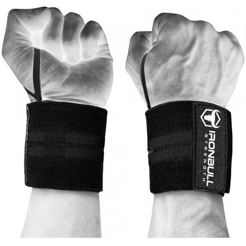 "Heavy-Duty Wrist Wraps 18"" (1 pair) - Top Nutrition and Fitness Canada"