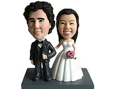 Bobblehead Bride and Groom Portrait