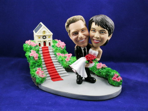 Groom Carrying Bride Church Theme Bobbleheads
