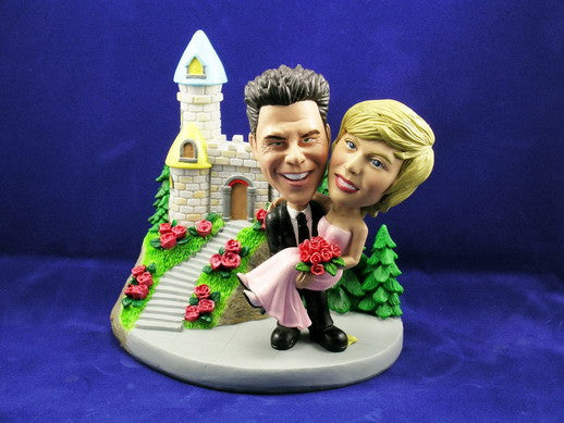 Bobblehead Carrying The Bride To The Castle