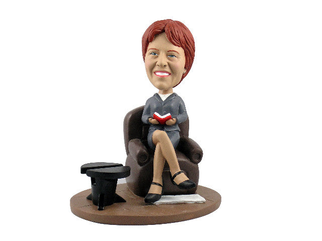 Professional Executive Woman Cardholder Bobblehead