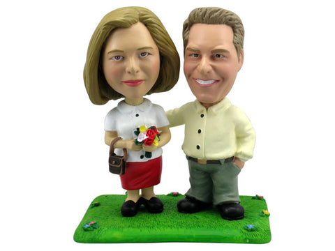 Casual Professional Couple Bobbleheads