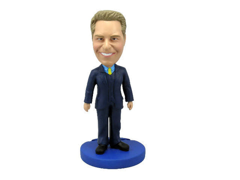 Blue Three Piece Suit Professional Bobblehead