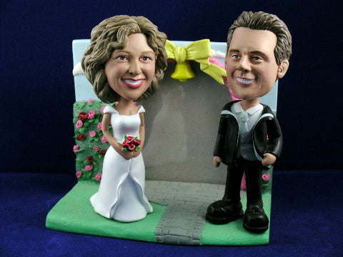 Stylish Married Couple Photo Bobblehead