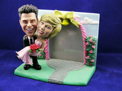 Groom Carrying Bride Wedding Photo Bobbleheads