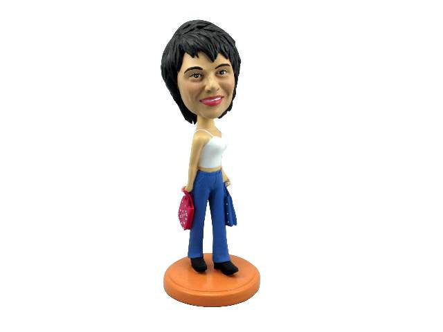 Shopaholic Shopping Beauty Bobblehead