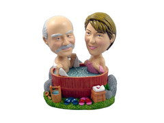 Hot Tub Outdoor Couple Bobblehead