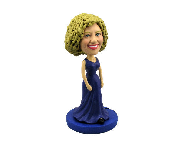 Blue Evening Gown Bobblehead