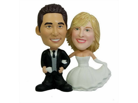 Custom Wedding Cake Topper Bobbleheads II