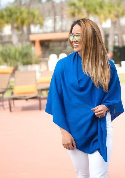 Royal Blue Chelsea Poncho OS