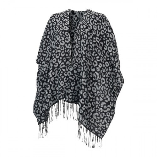 Black Leopard Kennedy Shawl OS