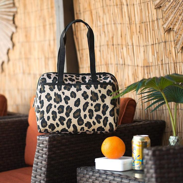 Wild Side Leopard Cooler Tote