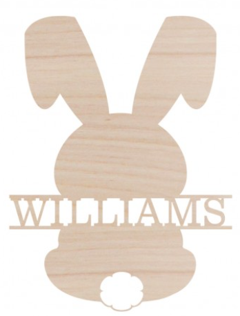Bunny Name Design Wood Monogram