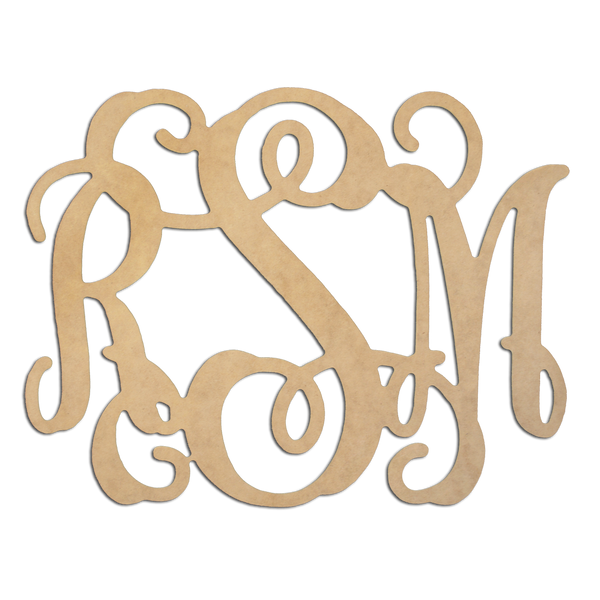 Vine Wood Monogram