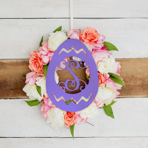 Easter Egg Wood Monogram