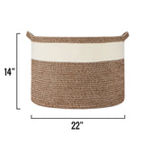 "XXL Cotton Rope Basket – 22""x22""x14"" – Large Woven Basket – Multipurpose Blanket Storage Basket Organizer – Elegant and Modern Design – Ideal for Baby Nursery, Toys, Towels, Laundry Bin"