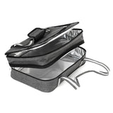 Insulated Expandable Double Casserole Carrier and Lasagna Holder
