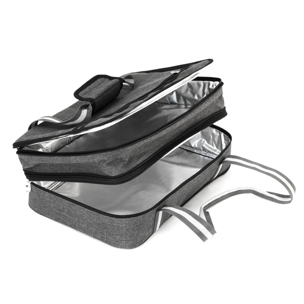 7052558128c5f9 ... Insulated Expandable Double Casserole Carrier and Lasagna Holder ...