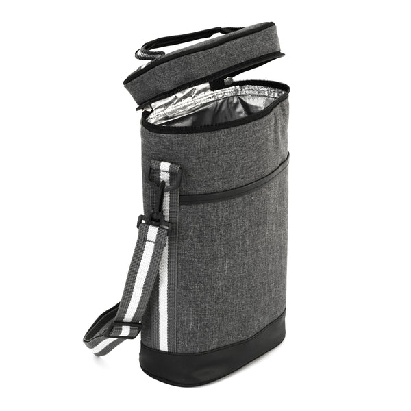 Insulated Picnic Cooler Bag and 2 Wine Tote Carrier