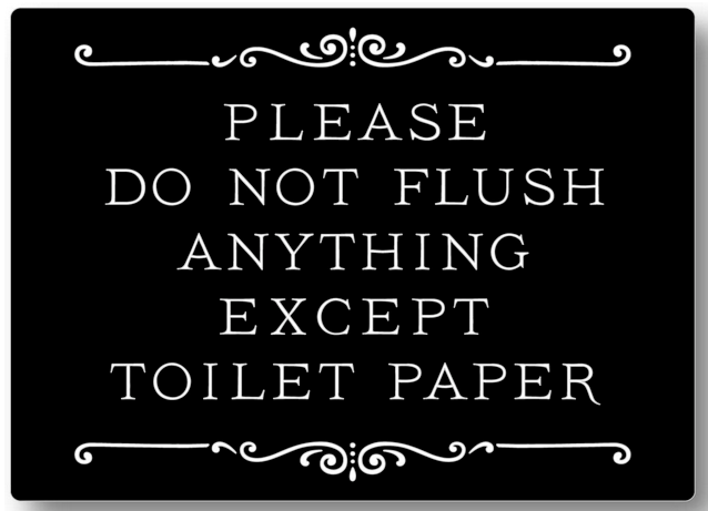 Restroom Sign (Do Not Flush..)