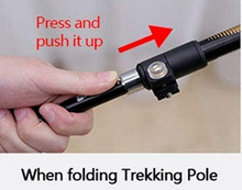 quick release collapsible trekking hiking pole stick
