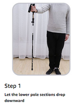 easy with instructions hiking trekking pole stick