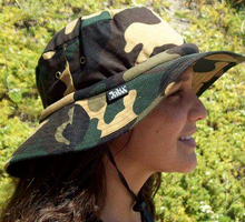 camo safari hat with cooling gel