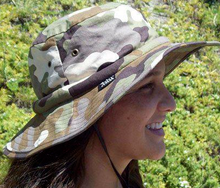 desert camo safari hat with cooling band