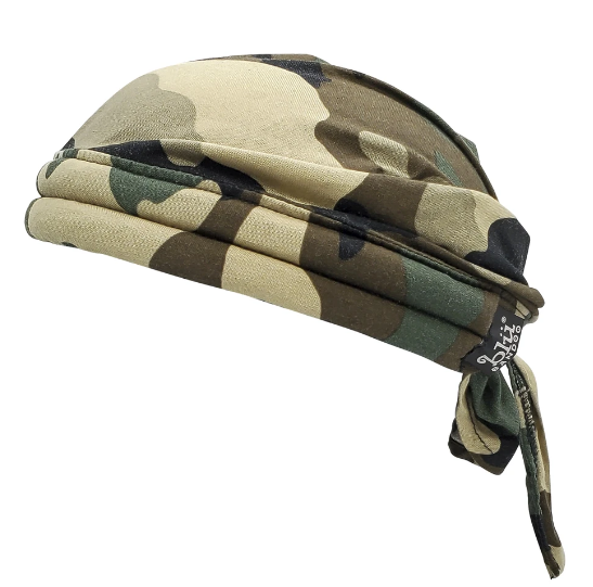tactical army camo doo rag cooling water activated unisex