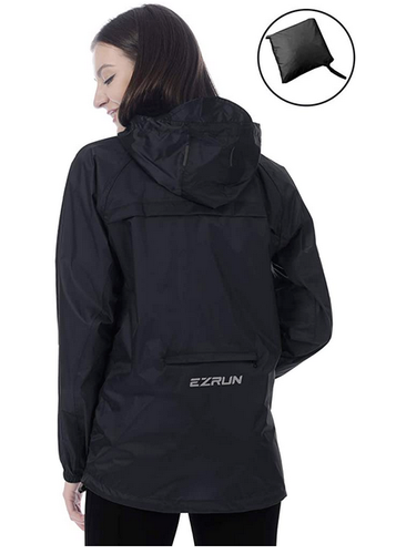 packable windproof waterproof jacket women medium