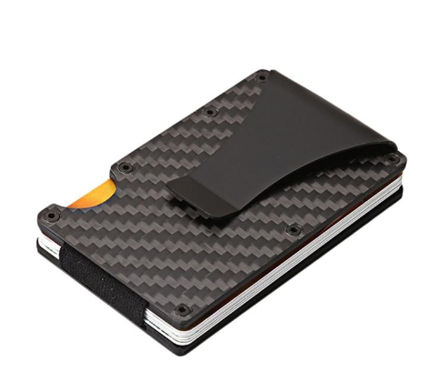 RFID Carbon Fiber Money Clip Card Holder