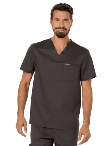 Scrubs Cherokee Workwear Men's V Neck Top WW690 PWT Pewter
