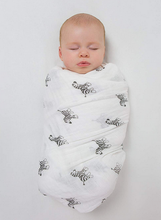 Muslin Swaddle Blanket, Premium Cotton, Zebra