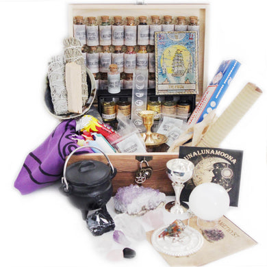 Witchcraft Kit X-Large Herbalist Kit Witchcraft Herbs Witch Crystals 94 Supplies Wicca