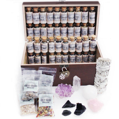 UnaLunaMoona Witchcraft Kit Box Altar Supplies Wiccan Pagan Witch 54 Supplies and Tools