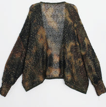 Imakokuu Kimono Sweater Lagenlook Art To Wear Olive Artistic Weavers Abstract One Size