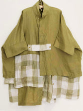 Imakokuu jacket lagenlook Moss artsy art to wear upscale One Size Plus 1X 2X 3X Quirky