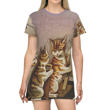 Kittens Studying T-Shirt Dress